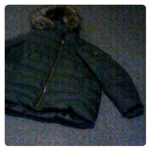 Black Micheal Kors down ski coat $100